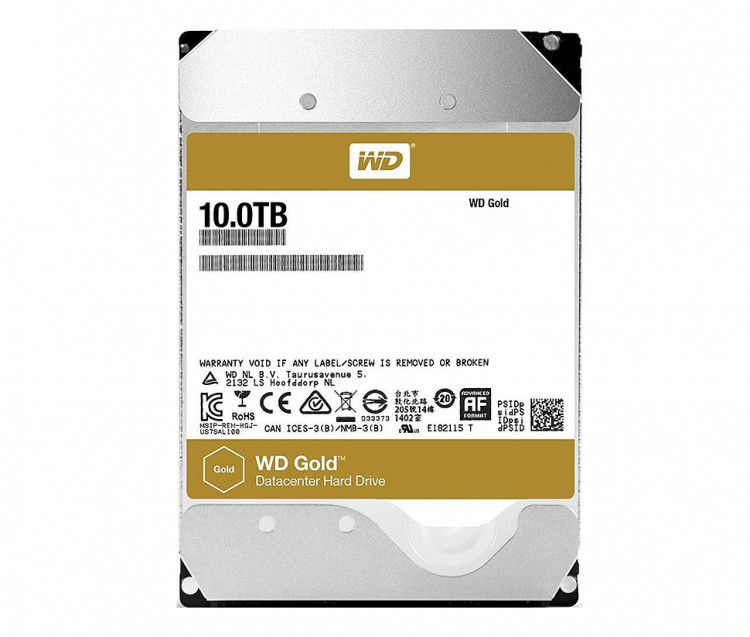 "Жорсткий диск 3,5"" 10Tb WD WD102KRYZ SATA III 7200 256Mb Gold Server"