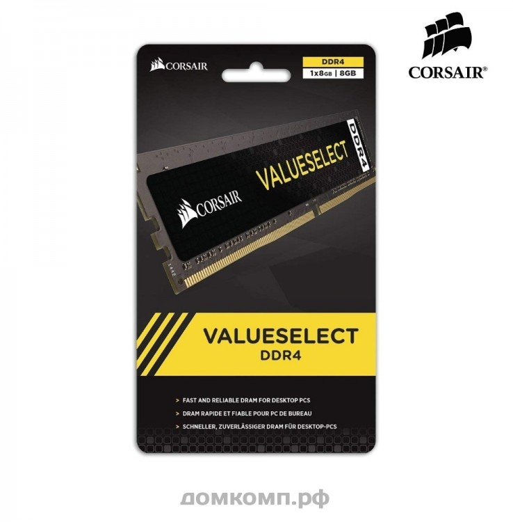 Оперативна пам'ять DIMM 8Gb DDR4 PC2400 Corsair Value Select 1.2V