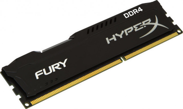 Оперативна пам'ять DIMM 8Gb DDR4 PC2400 Kingston HyperX Fury Black
