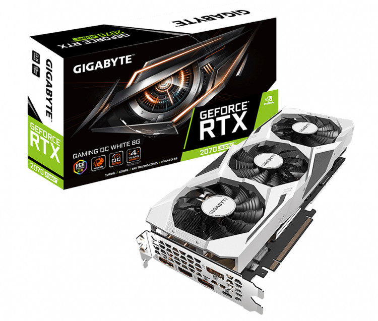 Відеокарта nVIDIA RTX2070 Super Gigabyte Gaming OC White 8Gb 256bit GDDR6