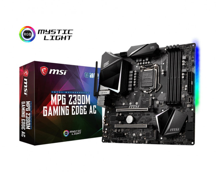 Материнська плата MSI MPG Z390M Gaming Edge AC Socket 1151 microATX