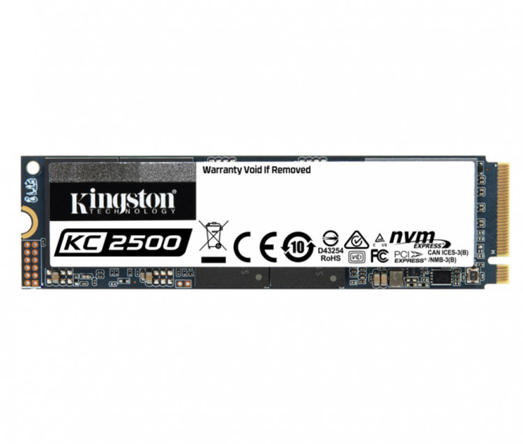 SSD M.2 500Gb Kingston KC2500 SKC2500M8/500G PCIe 3.0x4 (3D TLC)