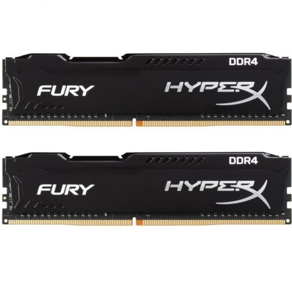 Оперативна пам'ять DIMM 16Gb KIT(2x8Gb) DDR4 PC2666 Kingston HyperX Fury Black