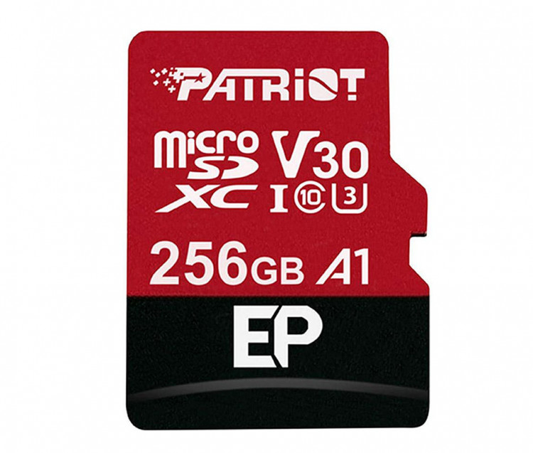 Карта пам'яті microSD 256Gb Patriot EP Series +SD Adapter