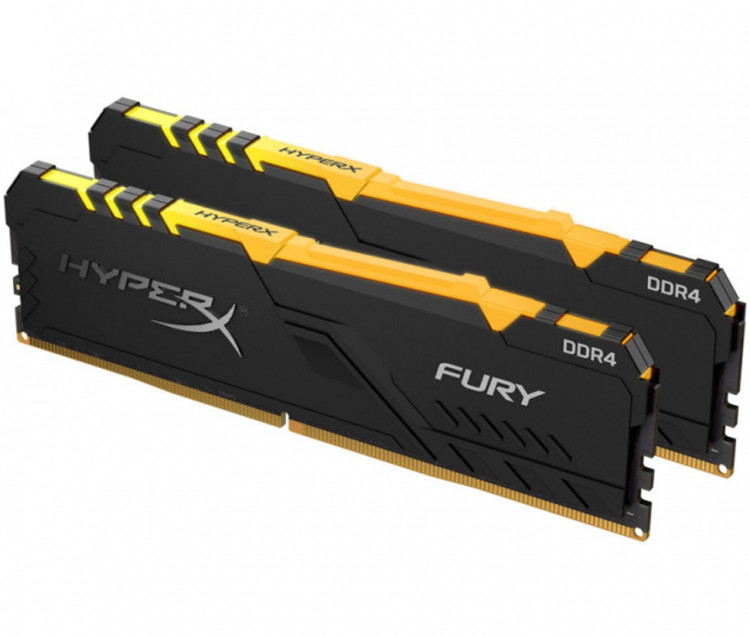 Оперативна пам'ять DIMM 32Gb KIT(2x16Gb) DDR4 PC3000 Kingston HyperX Fury Black