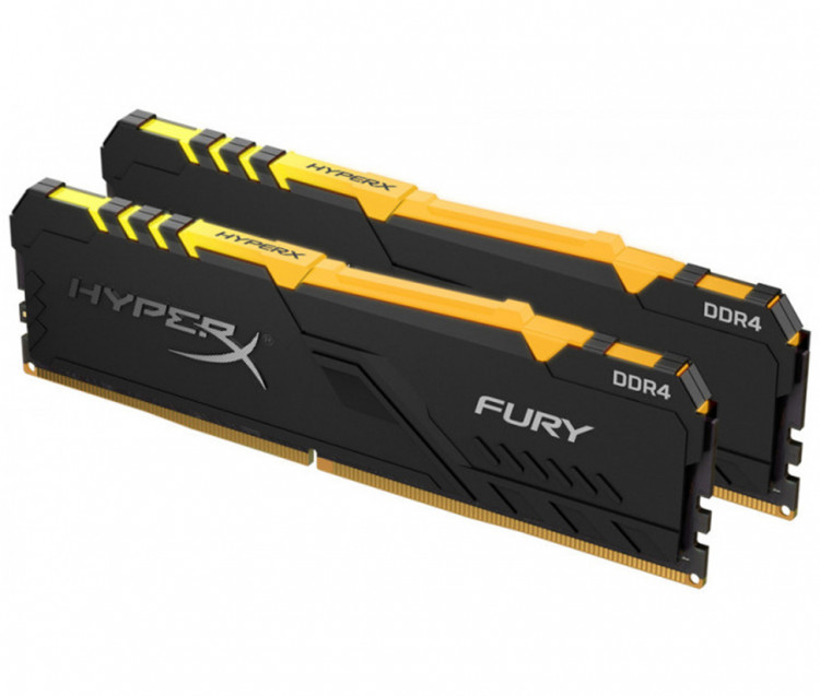 Оперативна пам'ять DIMM 16Gb KIT(2x8Gb) DDR4 PC3000 Kingston HyperX Fury RGB