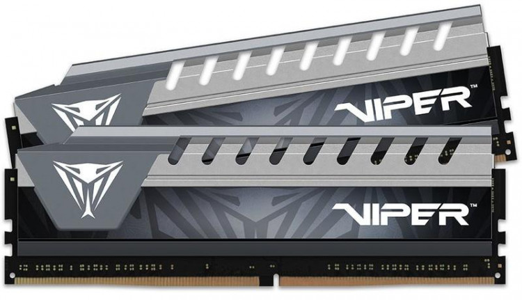 Оперативна пам'ять DIMM 8Gb KIT(2x4Gb) DDR4 PC2666 Patriot Viper Elite Gray