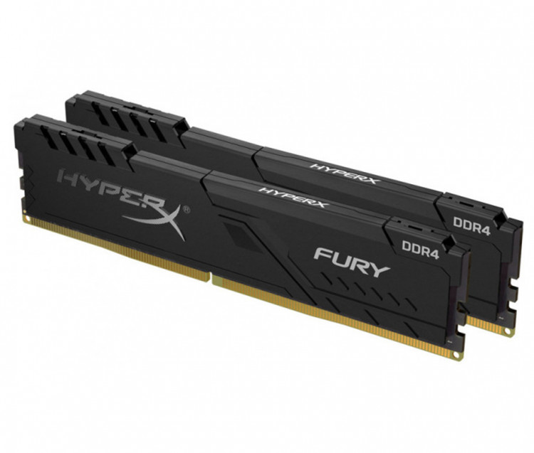 Оперативна пам'ять DIMM 32Gb KIT(2x16Gb) DDR4 PC2666 Kingston HyperX Fury Black