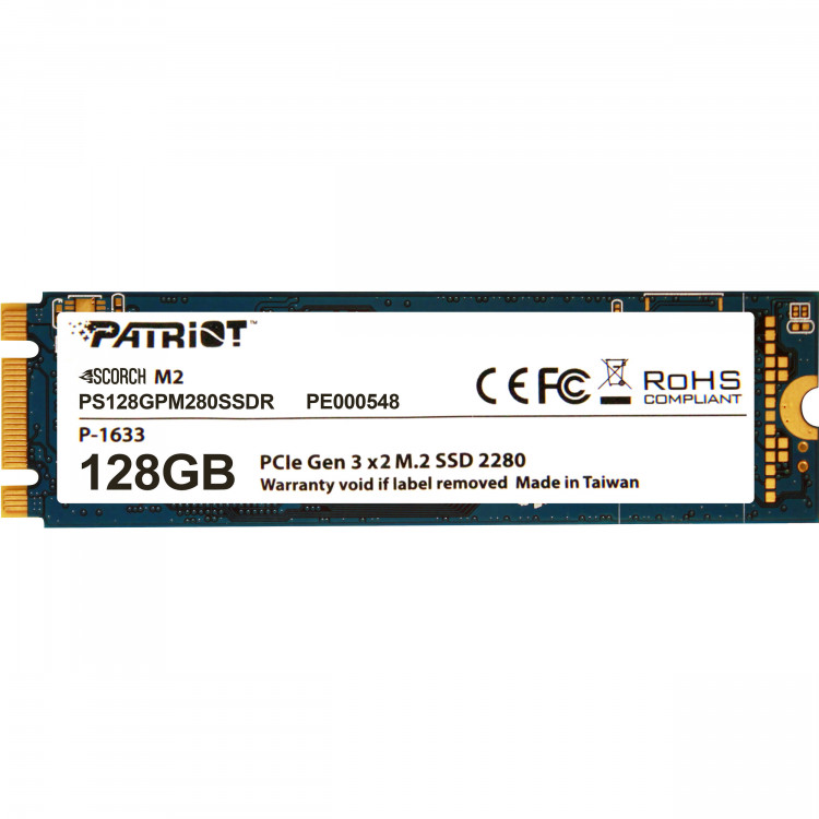 SSD M.2 128Gb Patriot Scorch M.2 PS128GPM280SSDR PCIe 3.0x2