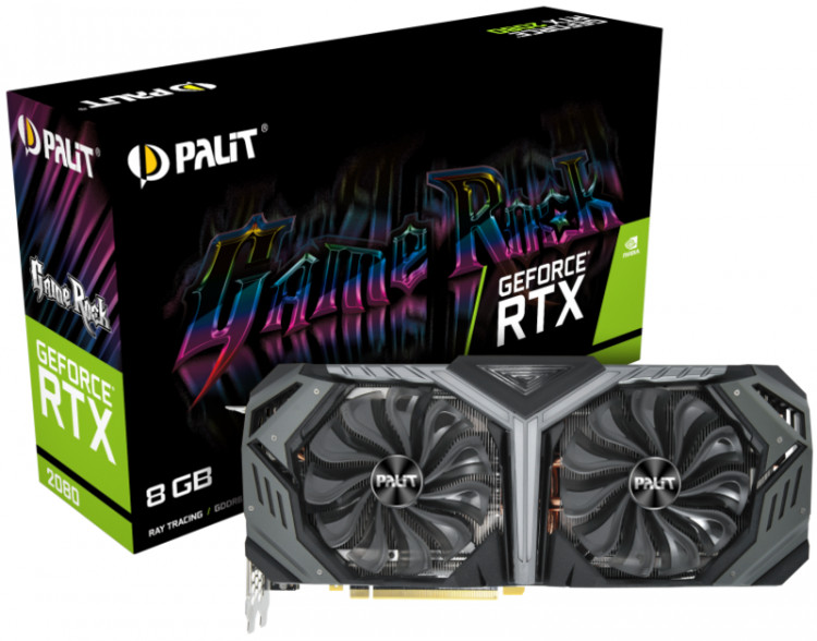 Відеокарта nVIDIA RTX2080 Palit Game Rock 8Gb 256bit GDDR6