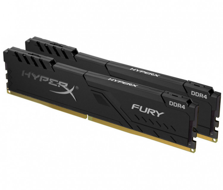Оперативна пам'ять DIMM 32Gb KIT(2x16Gb) DDR4 PC3200 Kingston HyperX Fury Black