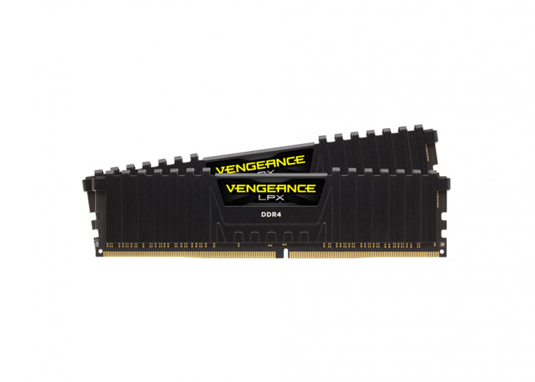 Оперативна пам'ять DIMM 16Gb KIT(2x8Gb) DDR4 PC3466 Corsair Vengeance LPX Black