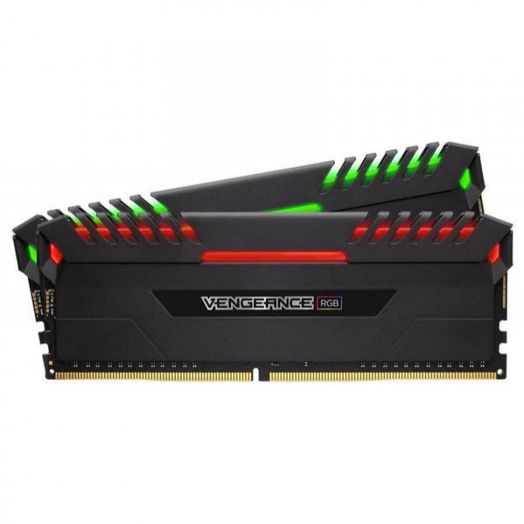 Оперативна пам'ять DIMM 16Gb KIT(2x8Gb) DDR4 PC3000 Corsair Vengeance RGB
