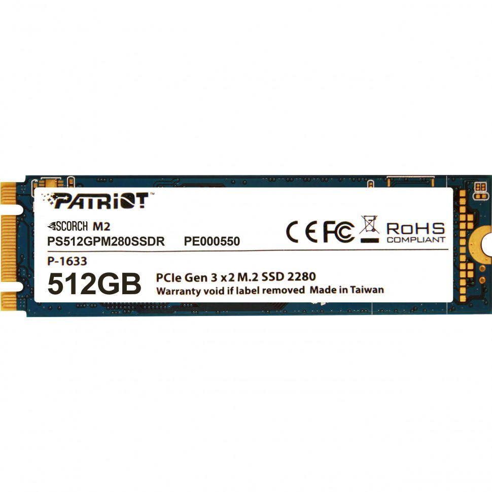 SSD M.2 512Gb Patriot Scorch M.2 PS512GPM280SSDR PCIe 3.0x2