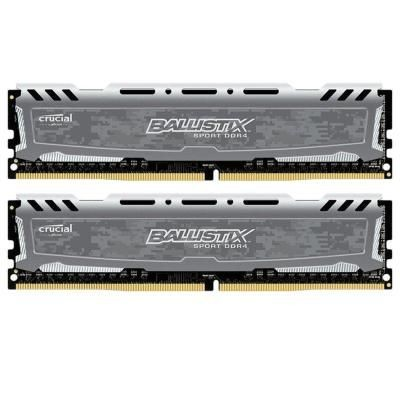 Оперативна пам'ять DIMM 8Gb KIT(2x4Gb) DDR4 PC2400 Crucial Ballistix Sport LT Gray