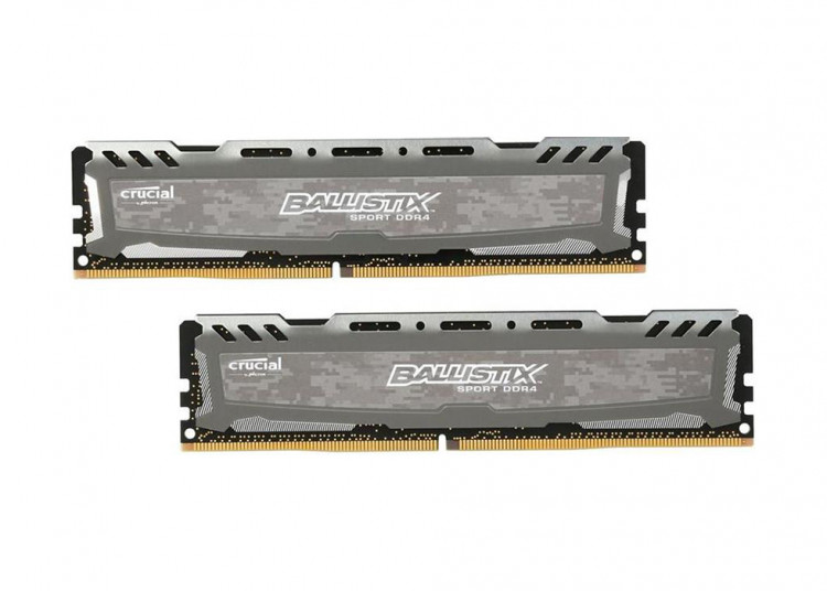 Оперативна пам'ять DIMM 16Gb KIT(2x8Gb) DDR4 PC3200 Crucial Ballistix Sport LT Gray