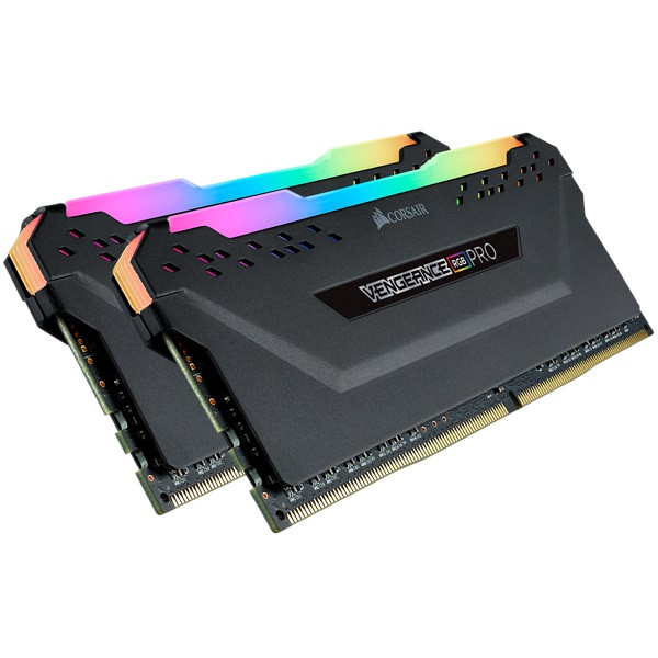 Оперативна пам'ять DIMM 16Gb KIT(2x8Gb) DDR4 PC3000 Corsair Vengeance RGB Pro Black