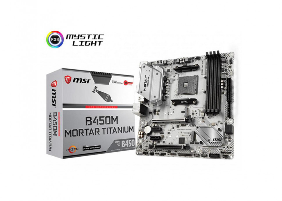 Материнська плата MSI B450M Mortar Titanium Socket AM4 microATX