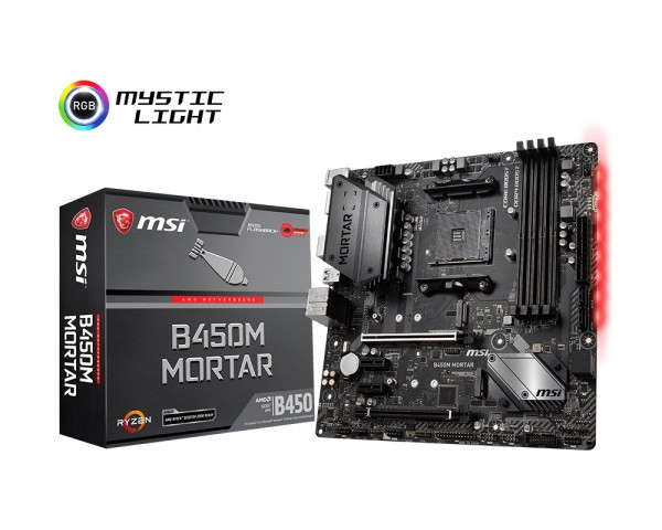 Материнська плата MSI B450M Mortar Socket AM4 microATX