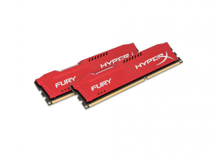 Оперативна пам'ять DIMM 32Gb KIT(2x16Gb) DDR4 PC3200 Kingston HyperX Fury Red