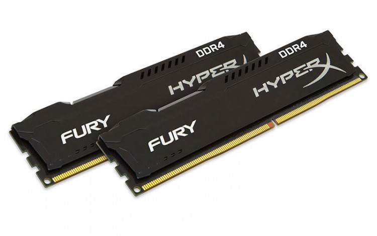 Оперативна пам'ять DIMM 16Gb KIT(2x8Gb) DDR4 PC2400 Kingston HyperX Fury Black