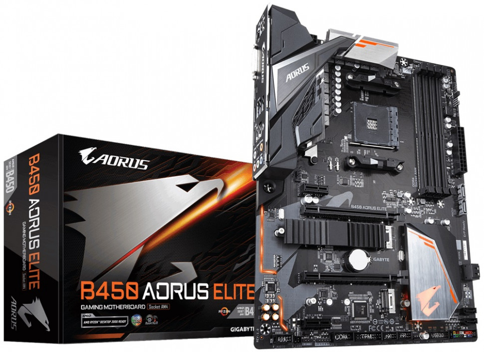 Материнська плата Gigabyte B450 Aorus Elite Socket AM4 ATX