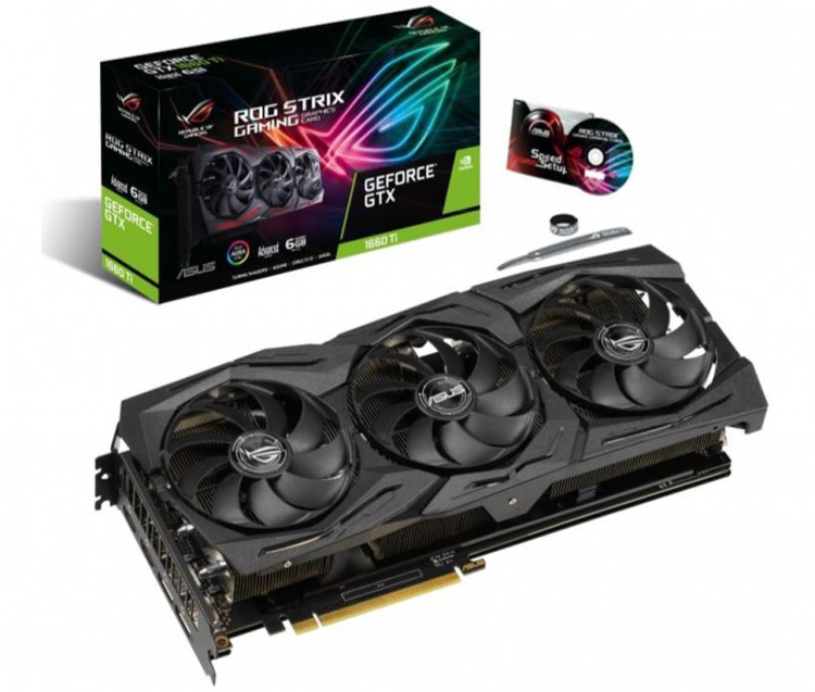 Відеокарта nVIDIA GTX1660Ti Asus ROG Strix Gaming Advanced 6Gb 192bit GDDR6