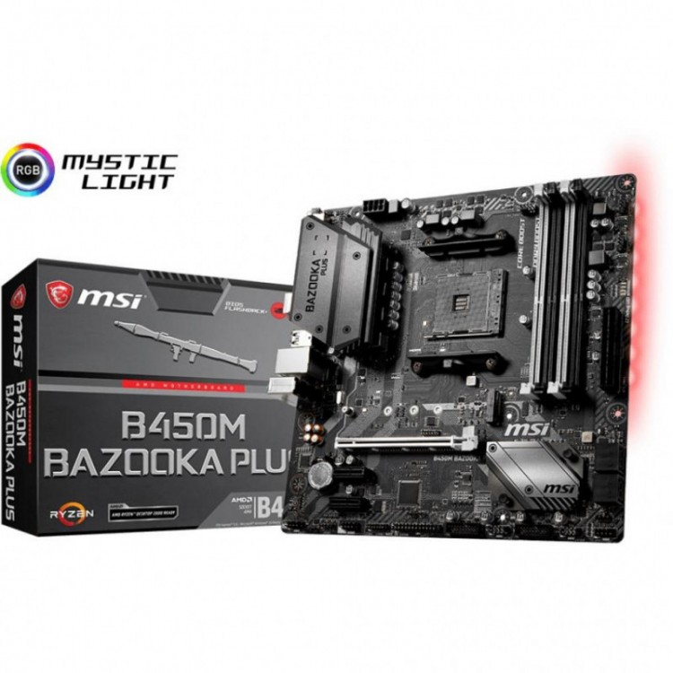 Материнська плата MSI B450M Bazooka Plus Socket AM4 microATX
