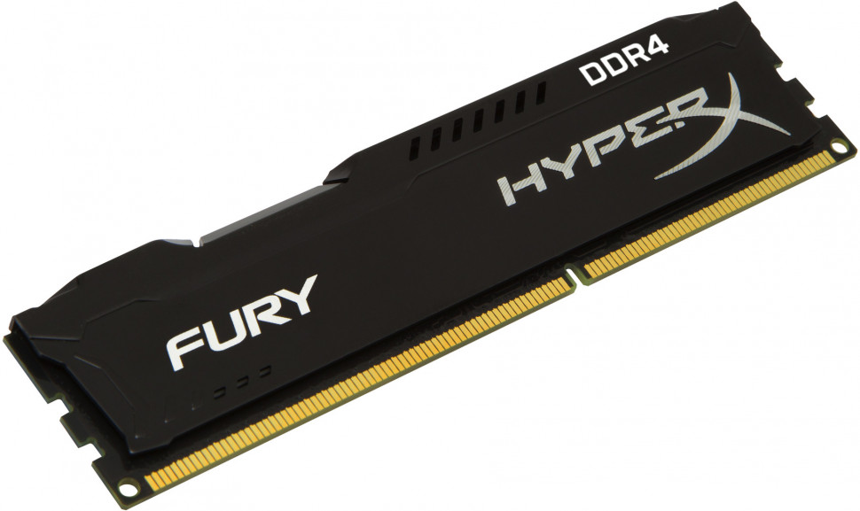 Оперативна пам'ять DIMM 4Gb DDR4 PC2400 Kingston HyperX Fury Black